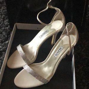 Alfani Ashtonchp Champagne Rhinestone Dress Sandal